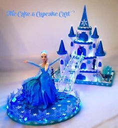 Frozen Style Castle & Doll Cake - Cake by TheCake&CupcakeCart