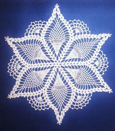 PDf Crochet Pattern Snow Queen Doily di BellaCrochet su Etsy