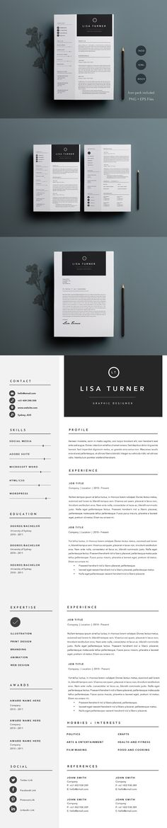Pin by designspiration on Corporate Resumes \ CVs Pinterest Cv - resume templates website