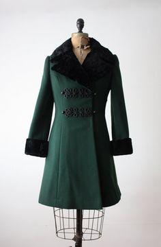 1950 s Scandinavian fur trimmed coat Vintage Fur 747534d6e5