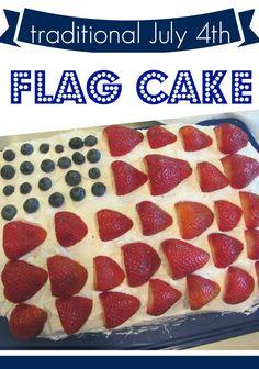 kid-friendly july 4th treat: flag cake | easy, fun, festive