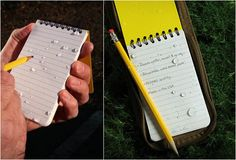 ALL-WEATHER WRITING NOTEBOOKS · $5.95