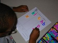 Help children recognize the characteristics of letters. Laminate the above template and have children sort letters based upon the type of lines; straight, curvy, or both.