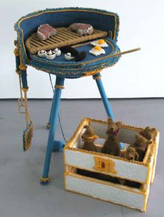 I've also loved this knitted BBQ by Jacquelyn Greenbank for years. So good!
