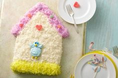 Birdhouse Cake recipe food