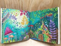 Finally completed the smaller details in this two page spread #johannabasford…