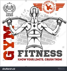 Fitness club and gym banner or poster design. Gym Banner, Sticker Street Art, Basketball Posters, Sport Inspiration, Sport Icon, Human Development, Kids Videos, Healthy People 2020, Kids Sports