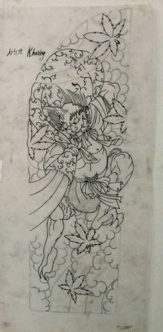 R Tattoo, Body Tattoos, Japanese Drawings, Japanese Art, Tattoo Sketches, Tattoo Drawings, Irezumi Tattoos, Samurai Tattoo, Asian Tattoos