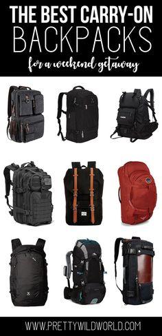 Travel backpack weekend getaway backpack carry on luggage carry on ba Best Carry On Backpack, Best Carry On Luggage, Carry On Packing, Luggage Backpack, Packing Tips For Travel, New Travel, Travel Luggage, Backpack Bags, Travel Hacks