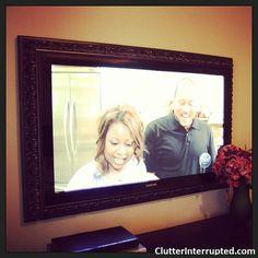DIY Tutorial - Make a Flat Screen Television Frame | Clutter Interrupted