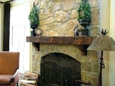 Rsf Opel 2 Wood Fireplace With Boston Blend Ledge Stone