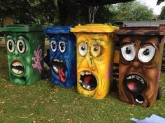 Trash can – street art – # trash can – Graffiti World