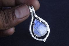 Rainbow Moonstone Pendant Jewellery, Moonstone Jewelry, 925 Solid Sterling Silver Gemstone Pendant, Handmade Designer Jewellery,Gems, INC-61