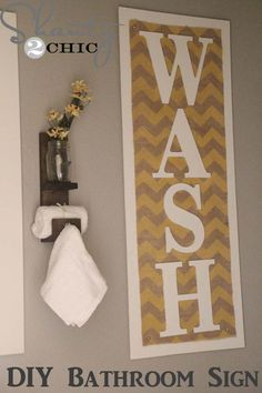 DIY Bathroom Decor Ideas for Teens - Chevron Burlap - Best Creative, Cool Bath Decorations and Accessories for Teenagers - Easy, Cheap, Cute and Quick Craft Projects That Are Fun To Make. Easy to Follow Step by Step Tutorials http://diyprojectsforteens.com/diy-bathroom-decor-teens