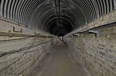 Second World War: tunnels safe from German bombers where British workers made munitions for Britain to defeat Hitler   Daily Mail Online Pride Of Britain, Battle Of Britain, Great Britain, The Spitfires, Hawker Hurricane, Arms Race, Automobile Industry, War Machine, World War Two