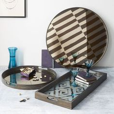 Image result for mirrored tray uk