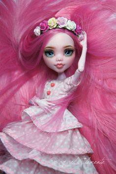 Custom Monster High doll, re-rooted and repainted by Raquelle Clemente.