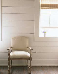 Covered in white cowhide. Ginger Barber's Small and Rugged Design in Texas - House Beautiful
