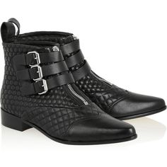 Tabitha Simmons Early quilted leather ankle boots, Women's, Size: 36.5 ($615) ❤ liked on Polyvore featuring shoes, boots, ankle booties, ankle boots, short boots, quilted leather boots, quilted booties and tabitha simmons boots
