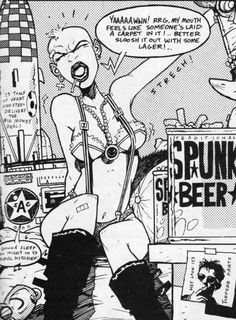 Hewlett & Martin's Tank Girl Gorillaz, Tank Girl Comic, Jamie Hewlett Art, Bad Candy, Chica Punk, Comic Art, Comic Books, Hulk Art, Monster Museum