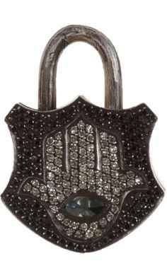 Sevan Bicakci Diamond Large Padlock with Hamsa//Barneys