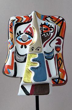Art Mask - Cubist mask like Picasso, Spain ceramics? Pablo Picasso, Art Picasso, Picasso Collage, Picasso Portraits, Georges Braque, Tableau Pop Art, Cubist Movement, Ceramic Mask, Sculptures Céramiques