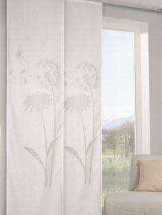 Gardinen-Outlet.com Ausbrenner-Flächenvorhang mit Pusteblumen. Maße: ca. 255 x 60 cm (HxB)