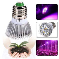 28W Full Spectrum E27 Led Grow Light Growing Lamp Light Bulb For Flower Plant fruits led lights Grow Lamp for Greenhouse PML