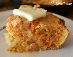 Cracklin' Cornbread - this would be great to serve with chili at a potluck! - Oh Bite It