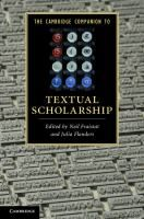 The Cambridge Companion to Textual Scholarship / [eBook] Edited by Neil Fraistat, Julia Flanders. (Series: Cambridge Companions to Literature) Digital Form, Book Aesthetic, Social Science, New Books, Texts, Periodic Table, Literature, This Book, Cambridge University