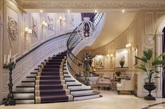 """Luxury mansion interior """" qatar """" mansions, studio, luxury, home decor, mansion Mansion Interior, Dream House Interior, Luxury Homes Interior, Home Interior Design, Grand Staircase, Staircase Design, Modern Mansion, House Stairs, Classic House"""