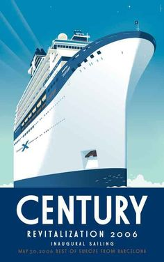 Commemorative poster for Celebrity Cruises  by Paul Rogers