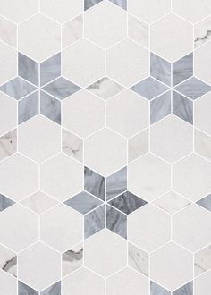 Heartwell Mosaic Calacatta THassos Bardiglio Marble Tile