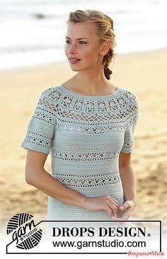 . Прохлада в жаркий день. Ажурное платье Grace in Lace от DROPS Design.