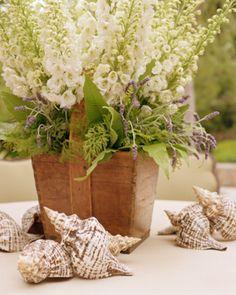 Centros de mesa para boda con base de cerámica - Para Más Información Ingresa en: http://fotosderamosdeflores.com/centros-de-mesa-para-boda-con-base-de-ceramica/