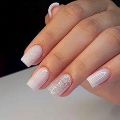 Make an original manicure for Valentine's Day - My Nails Nail Swag, Acrylic Nails, Gel Nails, Nail Polish, Nail Nail, Cute Nails, Pretty Nails, Bridal Nail Art, Simple Bridal Nails