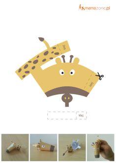 Żyrafa-pacynka  #DoDruku #Printable http://www.mamazone.pl/kolorowanki/2014/zyrafa-pacynka-do-wydruku.aspx