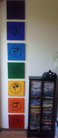 Seven Chakras Acrylic Painting Wall Decoration