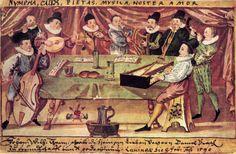 Collegium Musicum, from Gymnasium illustre, Lauingen, Germany, c 1590