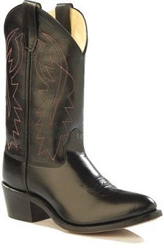 Kids Black Leather Cowboy Boots Old West. $49.99