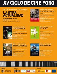 """#Madrid XV CICLO DE CINE FORO """"LA OTRA ACTUALIDAD"""" ecoagricultor.com"""