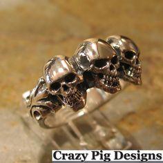 .3 crazy pig design (Crazy Pig Designs)/ Tudor scull ring cpd1018