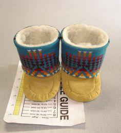 `Size 3 4 New Pendleton Wool Deer Suede Baby Mukluks Tall Moccasins Booties   eBay