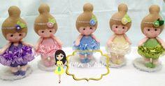 Bonecas baby bailarinas em feltro