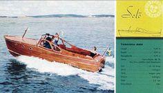 Storebro Solö ruff I Swedish wooden boat, classic