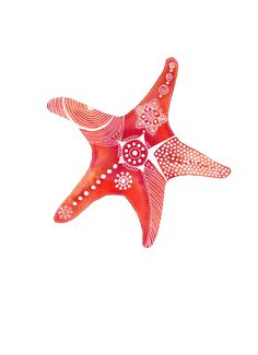 Red-Rust StarFish Archival Art Print. $15,00, via Etsy.