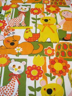 Vintage Cotton Fabric  MidWeight for Child's by missretromodern, $15.00