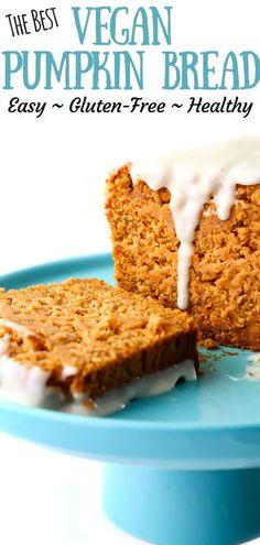 Easy healthy vegan pumpkin bread #healthyrecipes #pumpkinrecipes #easybaking