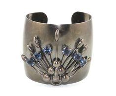 Jeweled Peacock Cuff Bracelet