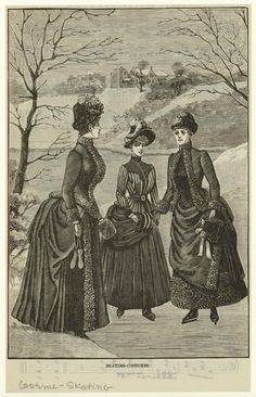 How Ice Skating Made Fifth Avenue a Fashionable Destination 1880s Fashion, Edwardian Fashion, Vintage Fashion, Victorian Women, Victorian Era, Figure Skating Quotes, Winter Schnee, Magazine Pictures, Skating Dresses